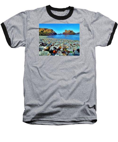 Glass Beach In Cali Baseball T-Shirt by Catherine Lott