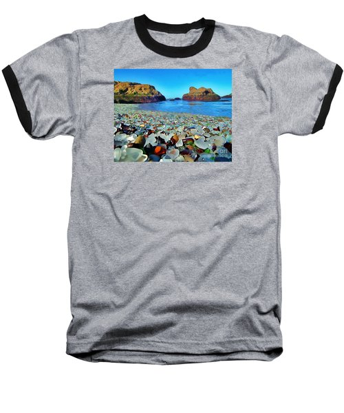 Glass Beach In Cali Baseball T-Shirt