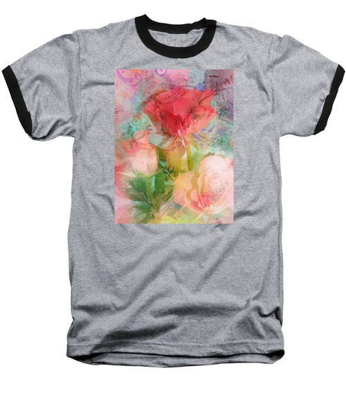 The Romance Of Roses Baseball T-Shirt by Carla Parris
