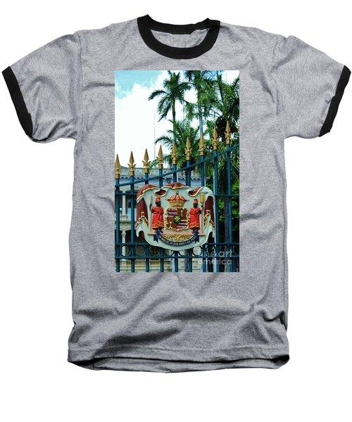 The Royal Seal Of Hawaii Baseball T-Shirt by Craig Wood