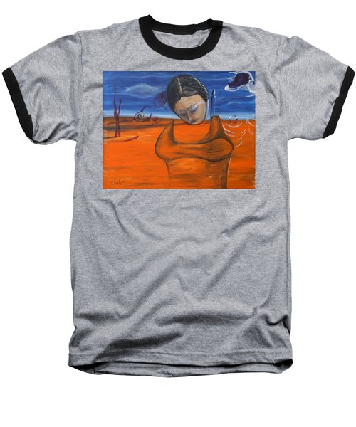 Baseball T-Shirt featuring the painting The Saharan Insomniac by Christophe Ennis