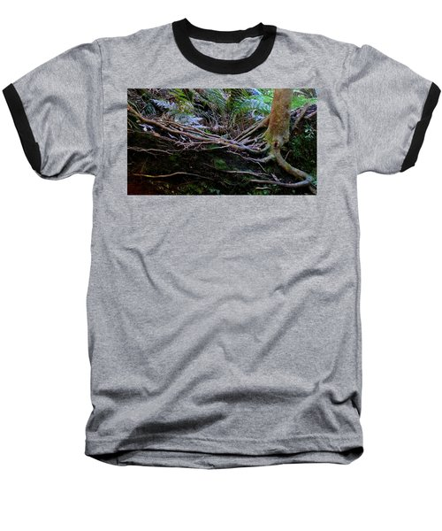 Baseball T-Shirt featuring the photograph The Salamander Tree by Evelyn Tambour