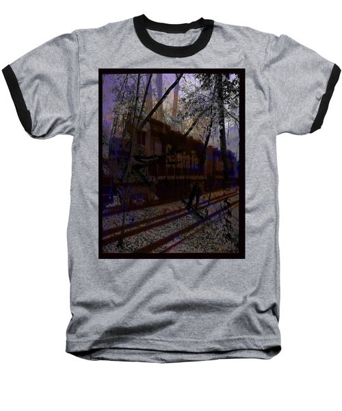 Baseball T-Shirt featuring the digital art The Santa Fe by Cathy Anderson
