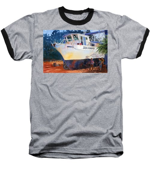 The Sea Hawk In Drydock Baseball T-Shirt