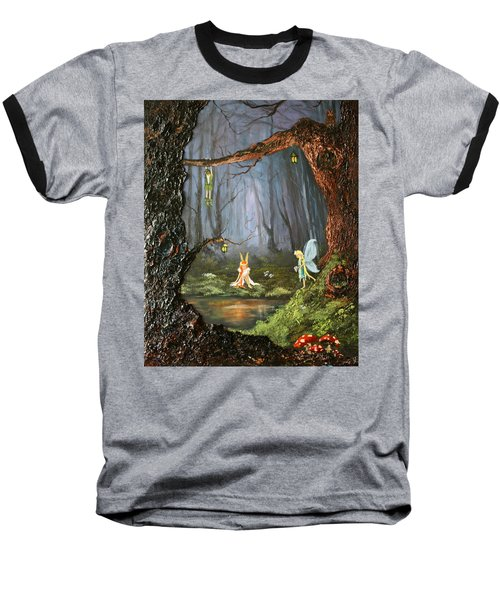 The Secret Forest Baseball T-Shirt by Jean Walker