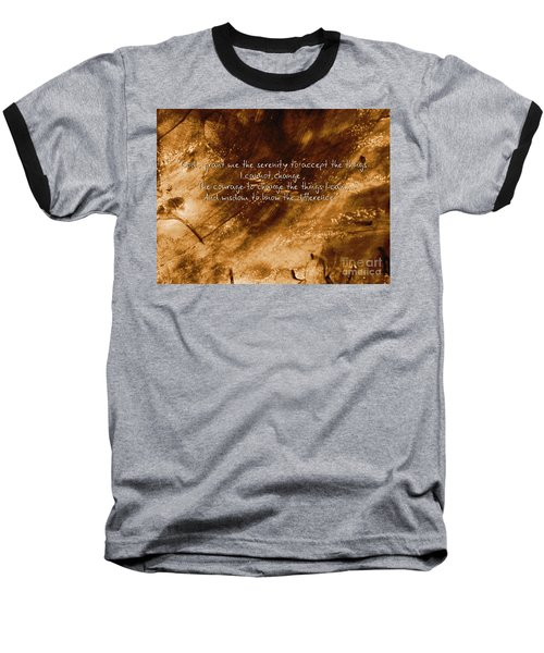 The Serenity Prayer 1 Baseball T-Shirt