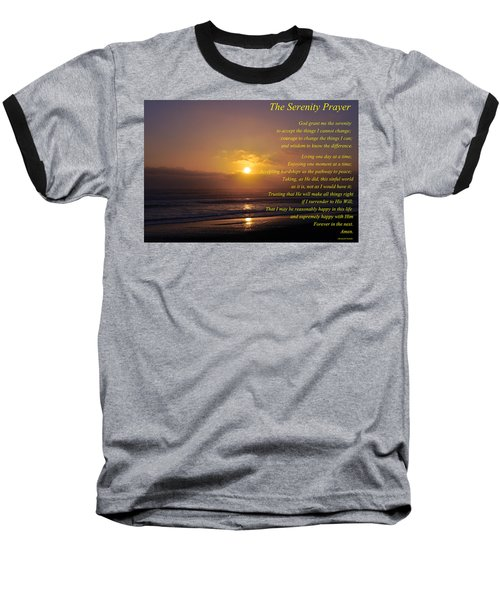 The Serenity Prayer Baseball T-Shirt by Tikvah's Hope