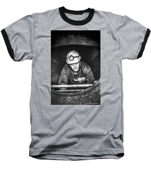 Baseball T-Shirt featuring the photograph The Sewer Guy by Stwayne Keubrick