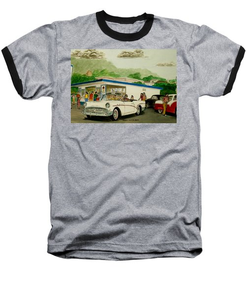 The Shake Shoppe Portsmouth Ohio 1960 Baseball T-Shirt by Frank Hunter