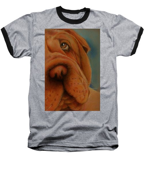 The Shar-pei  Baseball T-Shirt by Jean Cormier