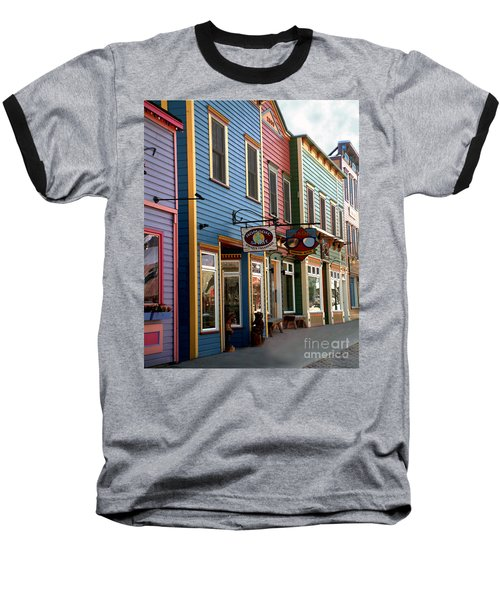 Baseball T-Shirt featuring the photograph The Shops In Crested Butte by RC DeWinter