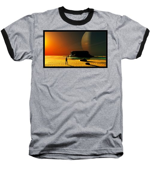 The Shore Of The Cupric Seas... Baseball T-Shirt by Tim Fillingim