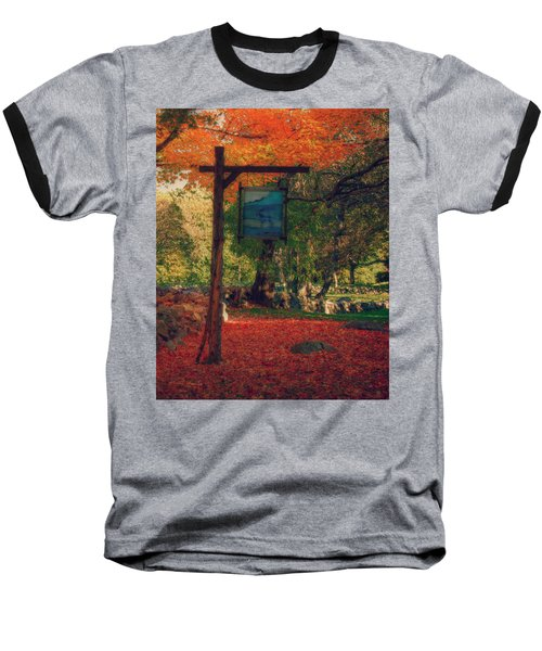 Baseball T-Shirt featuring the photograph The Sign Of Fall Colors by Jeff Folger