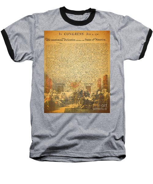 The Signing Of The United States Declaration Of Independence Baseball T-Shirt