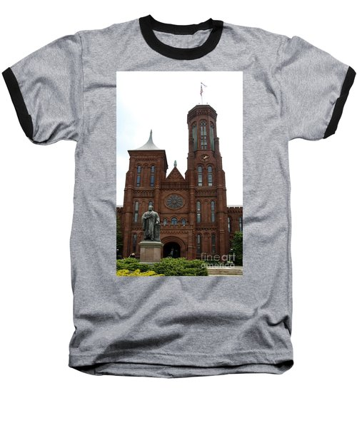 The Smithsonian - Washington Dc Baseball T-Shirt by Christiane Schulze Art And Photography