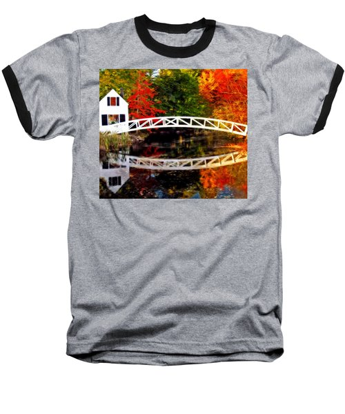 The Somesville Bridge Baseball T-Shirt by Bill Howard