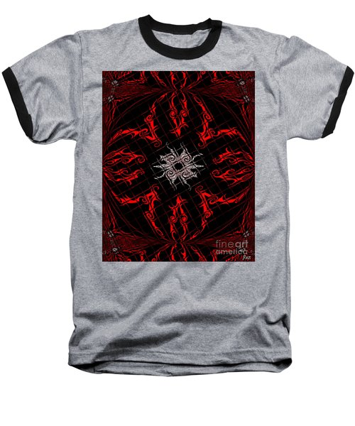 Baseball T-Shirt featuring the painting The Spider's Web  by Roz Abellera Art