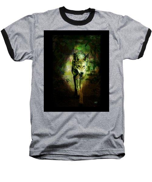 Baseball T-Shirt featuring the digital art The Spirit Of The Wolf by Absinthe Art By Michelle LeAnn Scott