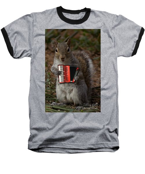 The Squirrel And His Accordion Baseball T-Shirt