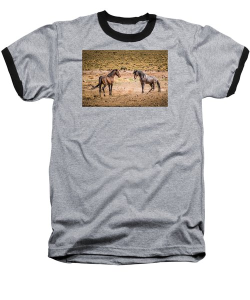 The Standoff  Baseball T-Shirt by Janis Knight