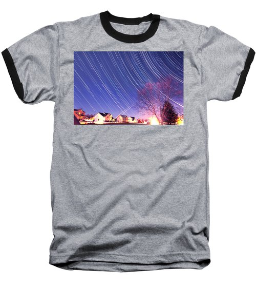 The Star Trails Baseball T-Shirt by Paul Ge
