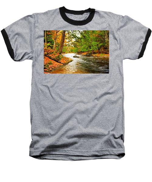 Baseball T-Shirt featuring the photograph The Stream by Bill Howard