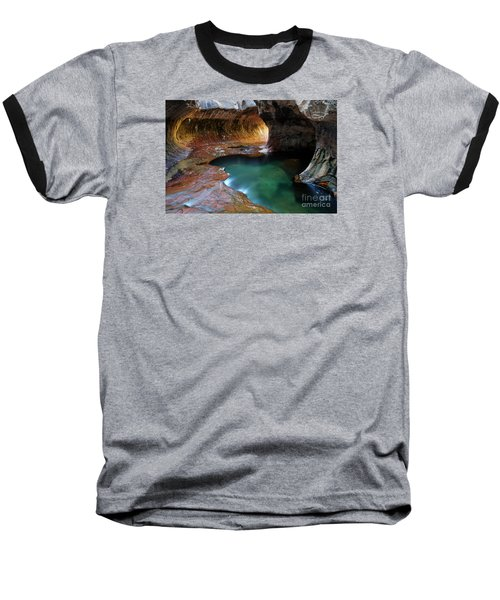 The Subway Sacred Light Baseball T-Shirt by Bob Christopher