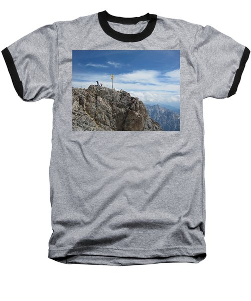 Baseball T-Shirt featuring the photograph The Summit by Pema Hou