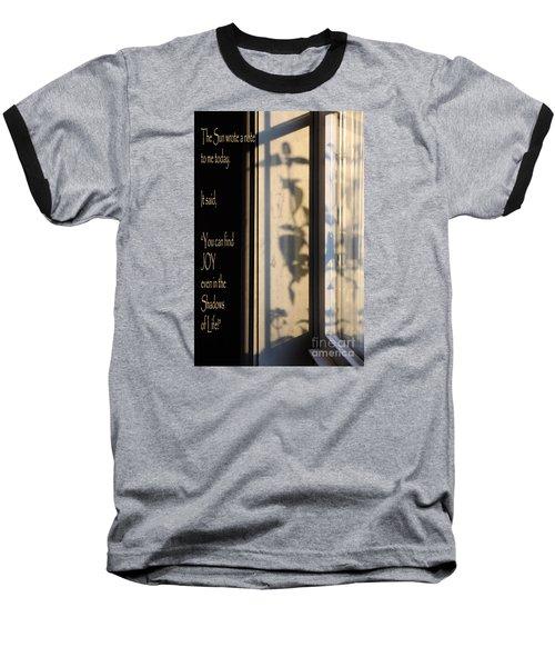 The Sun Wrote A Note Baseball T-Shirt