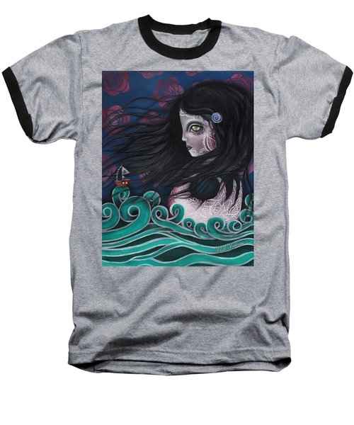The Swan Baseball T-Shirt by Abril Andrade Griffith