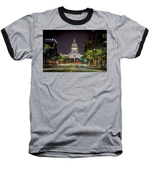The Texas Capitol Building Baseball T-Shirt
