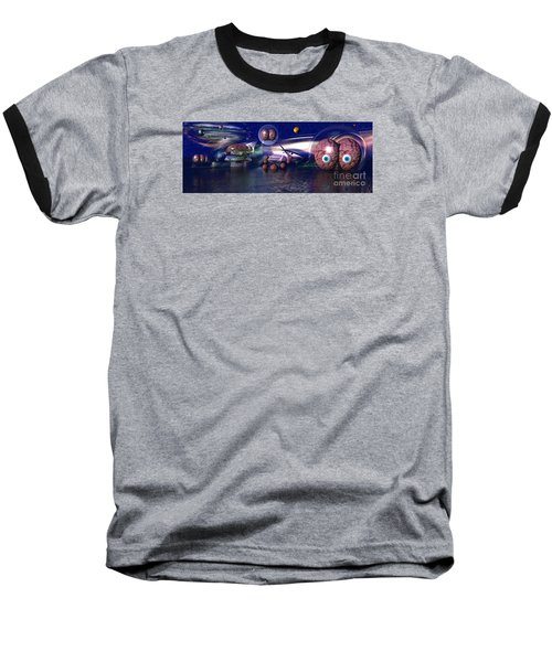 The Thinker Baseball T-Shirt by Jacqueline Lloyd
