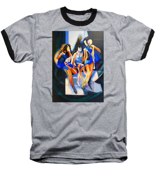 Baseball T-Shirt featuring the painting The Three Graces by Georg Douglas