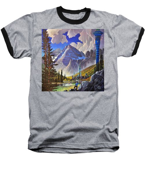 Baseball T-Shirt featuring the painting The Three Towers by Art James West