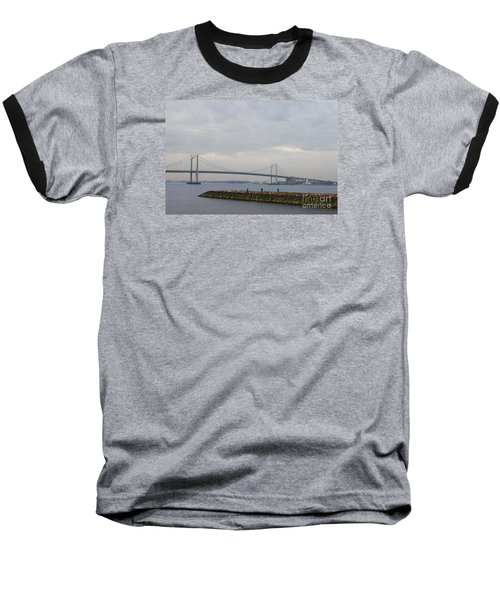 The Throgs Neck Bridge Baseball T-Shirt by John Telfer