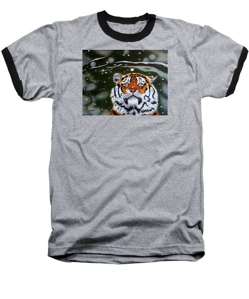 The Tiger In Winter Baseball T-Shirt