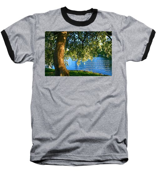 The Tree God Spoke Of... Baseball T-Shirt by Terry Wallace