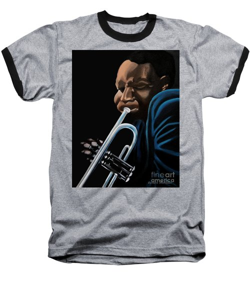 Baseball T-Shirt featuring the painting The Trumpeter by Barbara McMahon