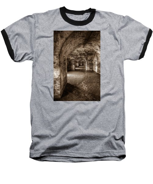 The Tunnels Of Fort Pike Baseball T-Shirt