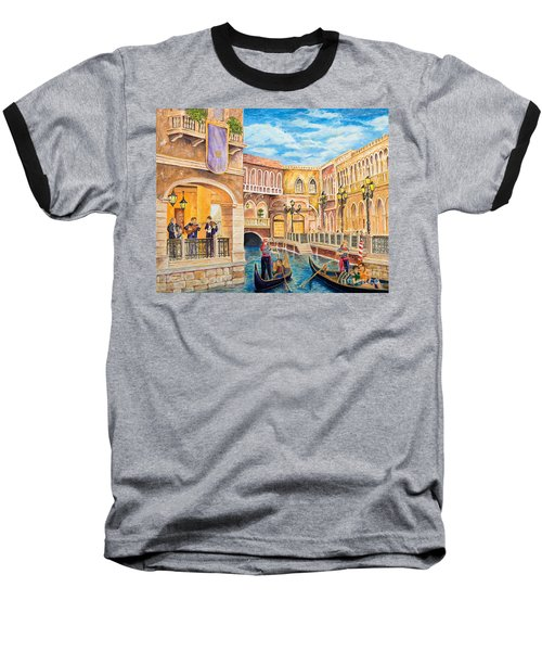 The Venetian Canal  Baseball T-Shirt