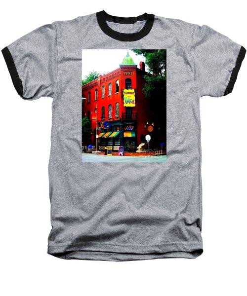 The Venice Cafe' Edited Baseball T-Shirt by Kelly Awad