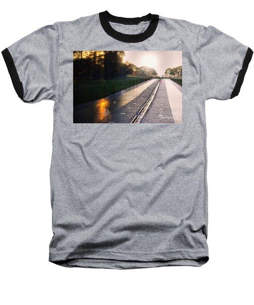 Baseball T-Shirt featuring the photograph The Vietnam Wall Memorial  by John S