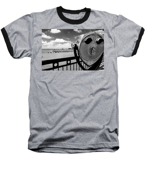 Baseball T-Shirt featuring the photograph The Viewer by Sennie Pierson