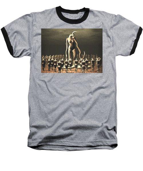 Baseball T-Shirt featuring the digital art The Vile Goddess by John Alexander
