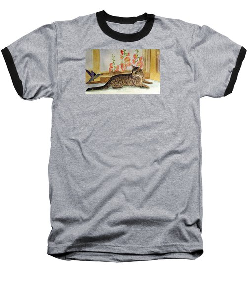 Baseball T-Shirt featuring the painting The Visitor by Angela Davies