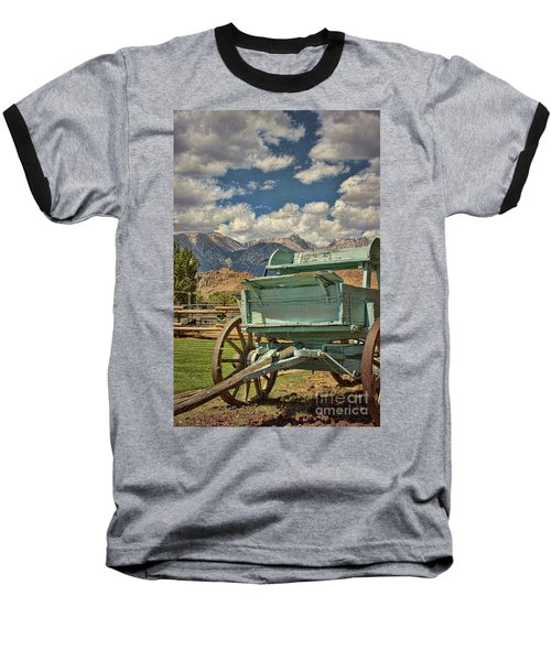 Baseball T-Shirt featuring the photograph The Wagon by Peggy Hughes