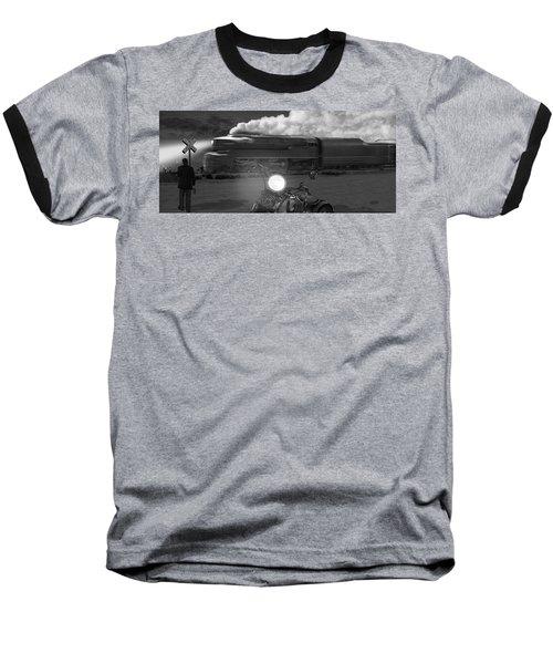 The Wait - Panoramic Baseball T-Shirt