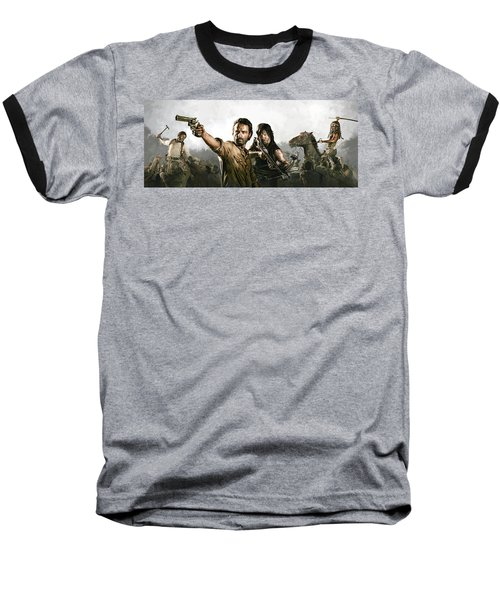 The Walking Dead Artwork 1 Baseball T-Shirt