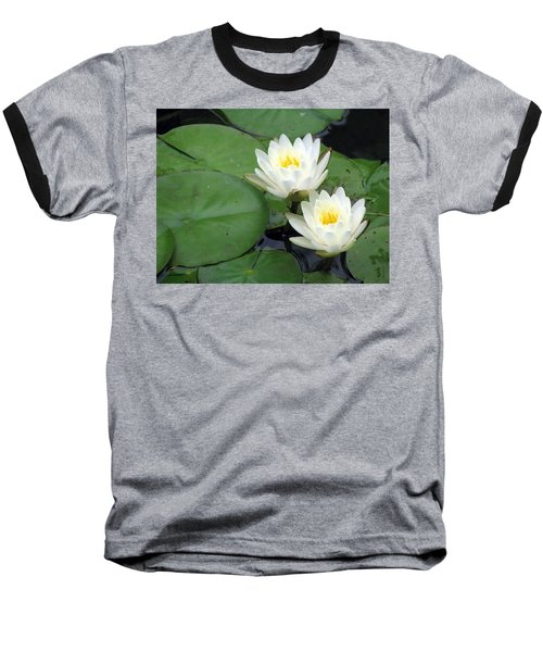 Baseball T-Shirt featuring the photograph The Water Lilies Collection - 06 by Pamela Critchlow