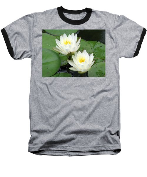Baseball T-Shirt featuring the photograph The Water Lilies Collection - 08 by Pamela Critchlow